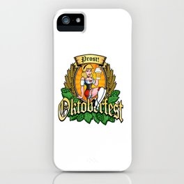 Oktoberfest German Prost Sexy Pin Up Girl Beer Label iPhone Case
