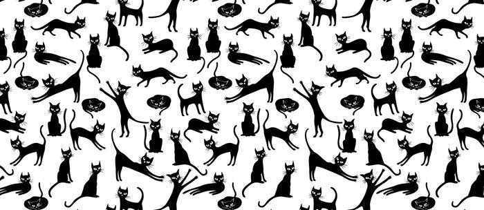 Black cats, seamless patten Coffee Mug