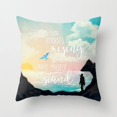 I Make Myself Stand - THG Throw Pillow