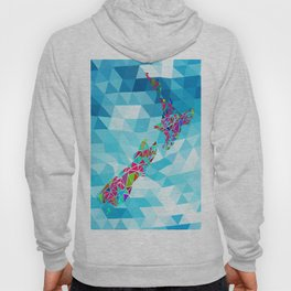 New Zealand Map : Square Hoody