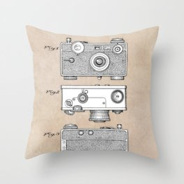 patent photographic camera 1938 Throw Pillow
