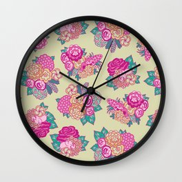 Hidden Jungle Pattern Wall Clock