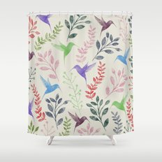 Floral & Birds II Shower Curtain