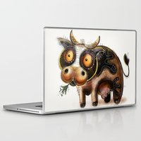 cow Laptop & iPad Skins featuring Cow by Riccardo Pertici