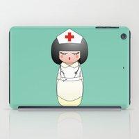 nurse iPad Cases featuring Kokeshi Nurse by Pendientera