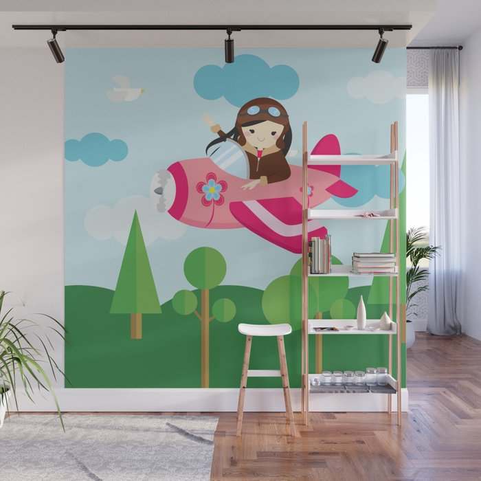 Nursery Decor Children Gift Birthday Wall Mural By Baronykarony