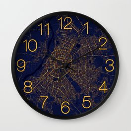 Santa Cruz de la Sierra, Bolivia - City At Night Wall Clock