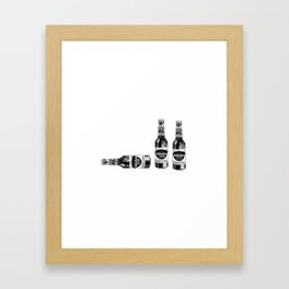 Butterbeer for three Framed Art Print