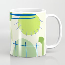 Suburbia from Above - Abstract Postmodern Retro Pattern Coffee Mug
