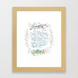 Give You Hope - Jeremiah 29:11 Framed Art Print