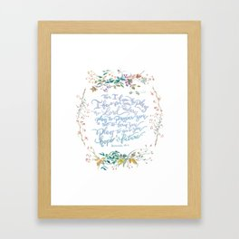 Give You Hope - Jeremiah 29:11 Framed Art Print