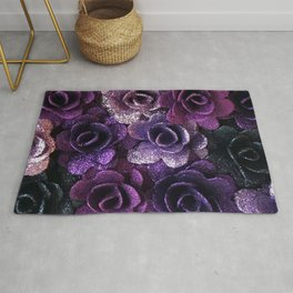 Purple Rose Rug