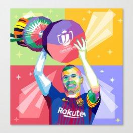 Iniesta Copa Del Rey Canvas Print