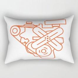 Minimalist Slant Six Engine Rectangular Pillow