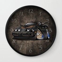 Classic '70s American Muscle Car Cartoon Wall Clock
