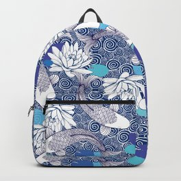 Blue Koi Ripples Backpack