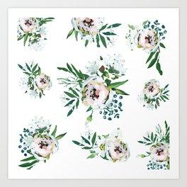 Blush Floral Art Print