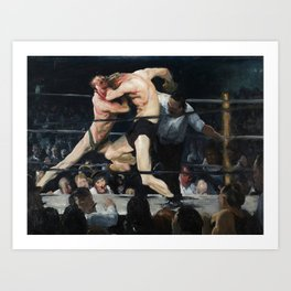 George Bellows's Stag at Sharkeys Art Print