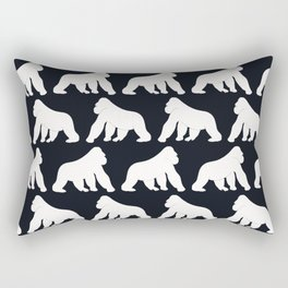 Gorillas White Rectangular Pillow