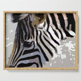 Zebra-Art Serving Tray