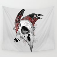 writer Wall Tapestries featuring DARK WRITER by TOXIC RETRO