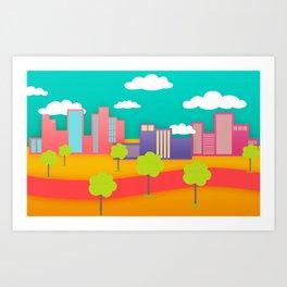 CandySky City Art Print