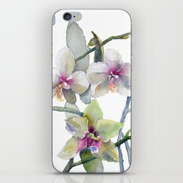 White and Pink Magnolias, Goldfish hiding, Surreal iPhone Skin