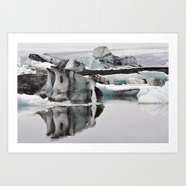 Ashy Glaciers. Art Print