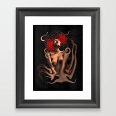 OCTO-PUSSY Grunge  Framed Art Print