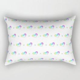 Drippy Heart Pattern Rectangular Pillow