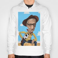 woody allen Hoodies featuring Woody Allen by Joshua Ang