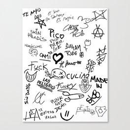 Graffitis Canvas Print