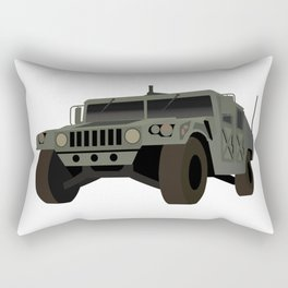 HUMVEE Army Military Truck Rectangular Pillow