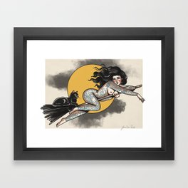Witty Witch Framed Art Print
