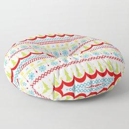Homespun Christmas Striped Pattern Floor Pillow