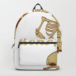 "Happy Halloween Shirt For October November Skully ""Bone Appetit"" T-shirt Design Creepy Spooky Backpack"