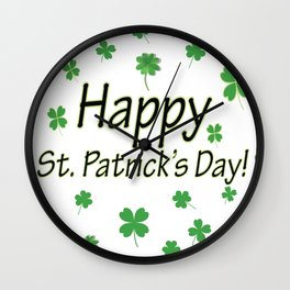 Happy St Patrick's Day Wall Clock