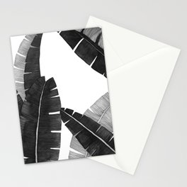 Banana Leaves BW Stationery Cards