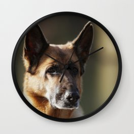 German Shepherd at Work Wall Clock