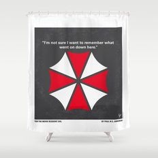 No119 My RESIDENT EVIL minimal movie poster Shower Curtain