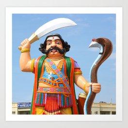 Mahishasura Statue Art Print