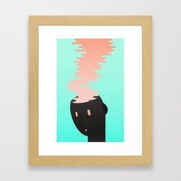 Brain combustion Framed Art Print