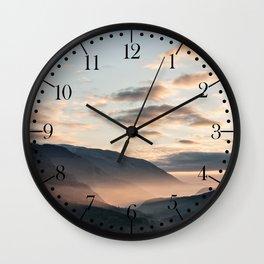 Park of Abruzzo at sunrise Wall Clock