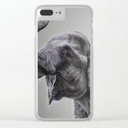 Sumatran Elephant Clear iPhone Case