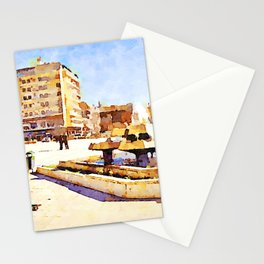 Square with fountain of Aleppo Stationery Cards