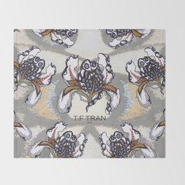 T.F TRAN MULTICOLOUR BUTTERFLY IRIS Throw Blanket