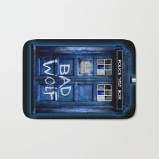 Tardis doctor who with Bad wolf graffiti iPhone 4 4s 5 5s 5c, ipod, ipad case Bath Mat