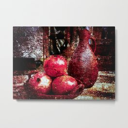 Pomegranates And A Pitcher Metal Print