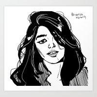 sky ferreira Art Prints featuring Sky Ferreira by Priyanka Menon