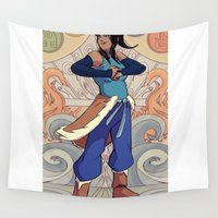 korra Wall Tapestries featuring The Avatar Korra by garciarts